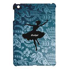 Vintage Blue Ballerina iPad Mini Case