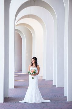 David's Bridal Bride Crystal in a classic strapless fit and flare wedding dress