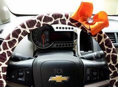 Steering+Wheel+Cover+Giraffe+Animal+Print+with+by+TurtleCoveStudio,+$22.00