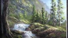 Do you enjoy painting waterfalls but have trouble adding details in the water? Watch Kevin as he shows you how to paint this stunning light-filled waterfall landscape painting. For more information about brushes, go to www.paintwithkevin.com