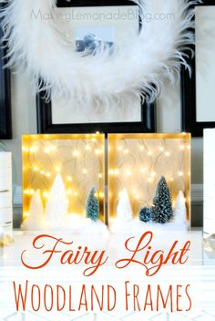 Check out the CUTEST way to use fairy lights: whimsical woodland fairy light shadowboxes! Add some GLOW to your holiday decor; you need to see this easy tutorial!
