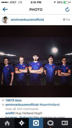 Fedde Le Grand, Armin van Buuren, Afrojack, Nicky Romero and Martin Garrix showing their support for the 2014 World Cup Netherlands soccer team by wearing the Netherlands Away jerseys. Get your jersey at http://edmgears.com