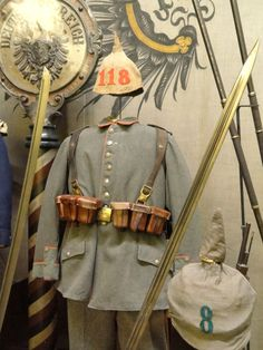 Germany infantry uniform, August 1914, worn by a soldier in the 118th Infantry Regiment.  National World War I Museum - Kansas City, Missouri.
