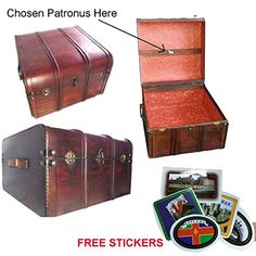 Amazon.com: Hogwarts Wooden Steamer Trunk - Patronus Edition: Kitchen & Dining