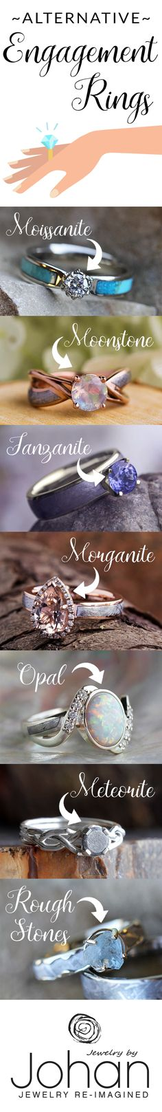 There are so many gorgeous gemstone and non-conventional diamond alternatives that couples can choose to use in the creation of their wedding rings and engagement rings. Browse a few ideas on this blog!