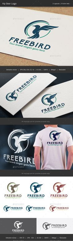 Free Fly Bird Logo Template #design #logotype Download: http://graphicriver.net/item/free-fly-bird-logo/12828794?ref=ksioks
