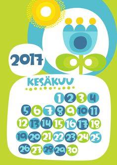 Kesäkuu 2017 | free | printable | pattern | lasten | lapset | askartelu | kalenteri | vuosikalenteri | seinäkalenteri | tulostettava | paperi | koti | sisustus | kids | children | crafts | home | paper | calendar | Pikku Kakkonen
