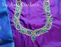 Thread and kundhan work for our customer