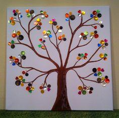 Button Tree, Baum mit Knöpfen / Yvi's Welt