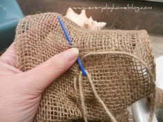How to make a burlap ruffle! Would be perfect for bulletin board border.
