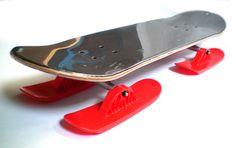 "RAILZ Snow Skateboard. The snowskate that skates. 8"" x 31"" Deck. HD Aluminum Trucks. Patented Railz Skis."