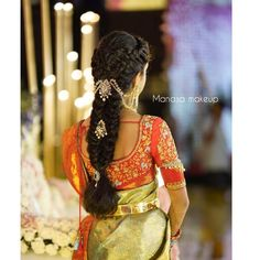 pretty hairstyles for long hair Pixie Cuts South Indian Wedding Hairstyles, Bridal Hairstyle Indian Wedding, Bridal Hair Buns, Bridal Hairdo, Indian Bridal Hairstyles, Hairdo Wedding, Braided Hairstyles For Wedding, Braided Updo, Saree Hairstyles