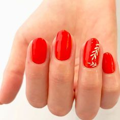 19 Non-Basic Ways to Wear Red Nails 19 Easy Red Nail Designs - Cute Nail Art Ideas for a Red Manicure New Nail Art Design, Nail Design Video, Red Nail Designs, Pretty Nail Designs, Simple Nail Art Designs, Acrylic Nail Designs, Nails Design, Red Nail Art, Red Acrylic Nails