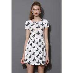 Peace Dove Skater Dress ($42) ❤ liked on Polyvore featuring dresses, polka dot skater dress, travel dresses, vintage style dresses, dot dress and vintage looking dresses
