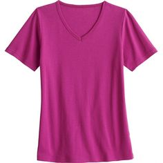 I LOVE this work shirt! I now have 5 for work! Women's Short Sleeve Longtail V-neck | duluthwomen.com