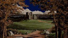 landscape, Castle, Clouds, Hill, Trees, Pixels, Pixel Art HD Wallpaper Desktop Background