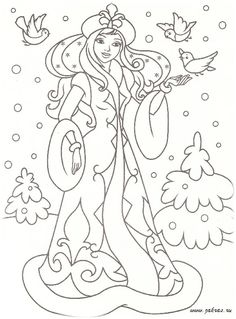 Find This Pin And More On Coloriage Princesse Et Reine By Marjolaine Grange
