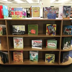 #November is #PictureBookMonth! Check out the display of some of our favorite picture books!  #EmmaKids #earlychildhoodliteracy #NeverTooYoungForALibraryCard