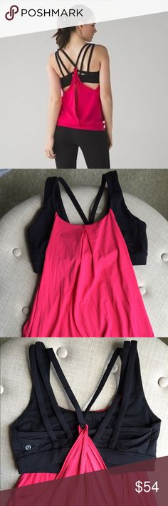 Lululemon Nouveau Limits Tank Sz 8 Rare Rare color combination for this tank Size 8 Only worn a few times to barre class, just a little too big for me.  Check out my other listings for similar items to bundle and save!! lululemon athletica Tops