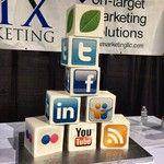Social Media Cake from Fresh's Social Media Day in Seattle
