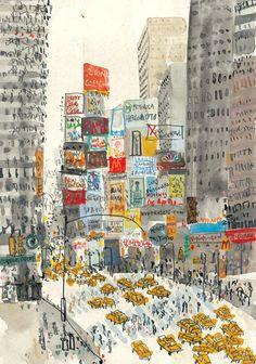 Clare Caulfield, Artist, Times Square