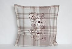 pillow cover with embroidery by YourHomeMarket on Etsy
