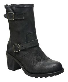 This Rocket Dog Black Buffed Edmond Leather Boot by Rocket Dog is perfect! #zulilyfinds