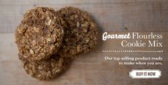 Wheat Free Flourless Apple Cookies made with Flourless Wheat Free Cookie Mix