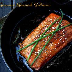 Honey Sesame Seared Salmon Recipe (gluten free)