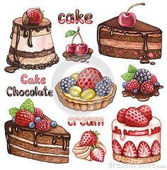 пирожное рисунок - Поиск в Google