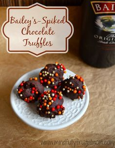 bailey's irish cream recipe - Delicious Chocolate Truffles with only 4 Ingredients!