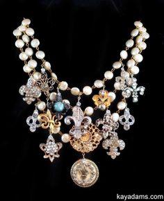 L4286 Sold [L4286] - $465.00 : Kay Adams, Anthill Antiques, Jewelry and Chandelier Heaven. fleur de lis french necklace. paris, france, francophile love #gottagettakay