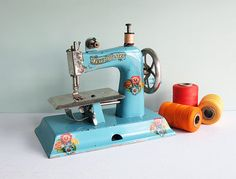 1940s KAYanEE Sew Master Toy Sewing Machine in Light by Tparty,
