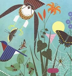Charley Harper's amazing posters with extraordinary patterns - patternprints journal Charley Harper, Illustrations, Illustration Art, Circle Drawing, Nature Artists, Retro Art, Wildlife Art, Bird Art, Quilting Designs