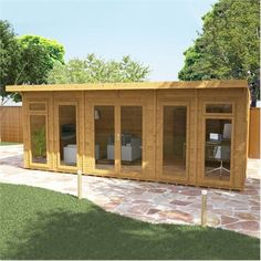 Buy Waltons 6 x Insulated Garden Room at Waltons Garden Buildings. UK made sheds, cabins and more. Garden Sheds Uk, Garden Cabins, Insulating A Shed, Tiny Mobile House, Tiny House, Small Houses, Insulated Garden Room, Avon, Garden Studio