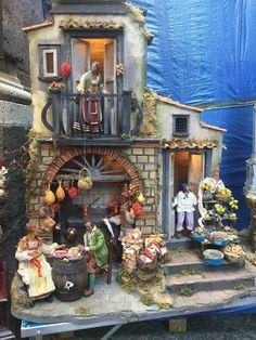 Usa House, Italian Street, Christmas Nativity Scene, Miniature Rooms, Belem, Terracotta, Dollhouse Miniatures, Portal, Painting