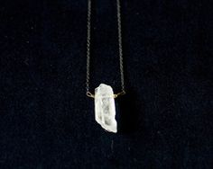 Mossiere quartz necklace. $50.