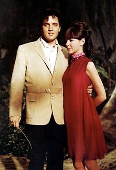 """Elvis once cited Shelley Fabares as his favorite actress of those he had worked with. They must have hit it off pretty well during the filming of """"Girl Happy,"""" since she was eventually asked to take the lead in two more Elvis films: """"Spinout"""" and shown here in """"Clambake"""" 1967."""