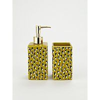 Leopard Print Dispenser And Tumbler Set George Bathroom Accessories Soap Dispenser George At Asda