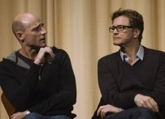 Mark Strong and Colin Firth.