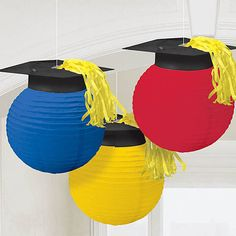 Lanterns with Grad Caps