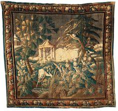 Woven tapestry, Flanders, around 1700. Verdure