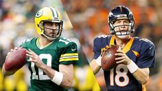 Between them, they have won seven NFL MVP awards, including five in the last seven years, yet Peyton Manning and Aaron Rodgers have played against each other only once.