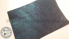 Lederzuschnitt Glitzer Blau Metallic