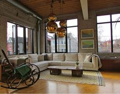 Industrial Living Room Ideas industrial chic living room design ideas - i want to live here in