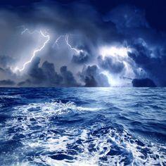 blue sea storm