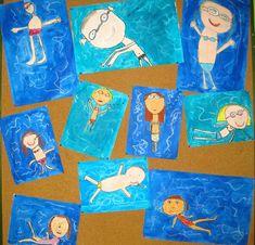 Tous à l'eau ! Primary School Art, Elementary Art, Art Lessons For Kids, Art For Kids, Classe D'art, Art Cart, Ecole Art, Cool Art Projects, Art Programs