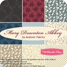 Mary Downton Abbey Fat Quarter Bundle Andover Fabrics - Fat Quarter Shop.......  UBER SQUEEEEEEEE!!!!