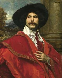 Artwork by Ferdinand Roybet, Gentleman in red robe, Made of oil on panel