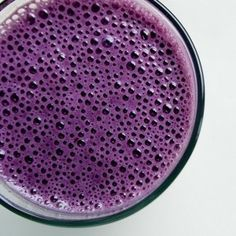 This looks like frozen blueberries and milk blended together...
